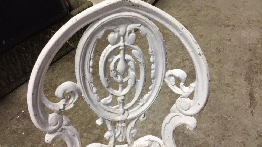 Pair Vintage Iron and Metal Garden Chairs - 5