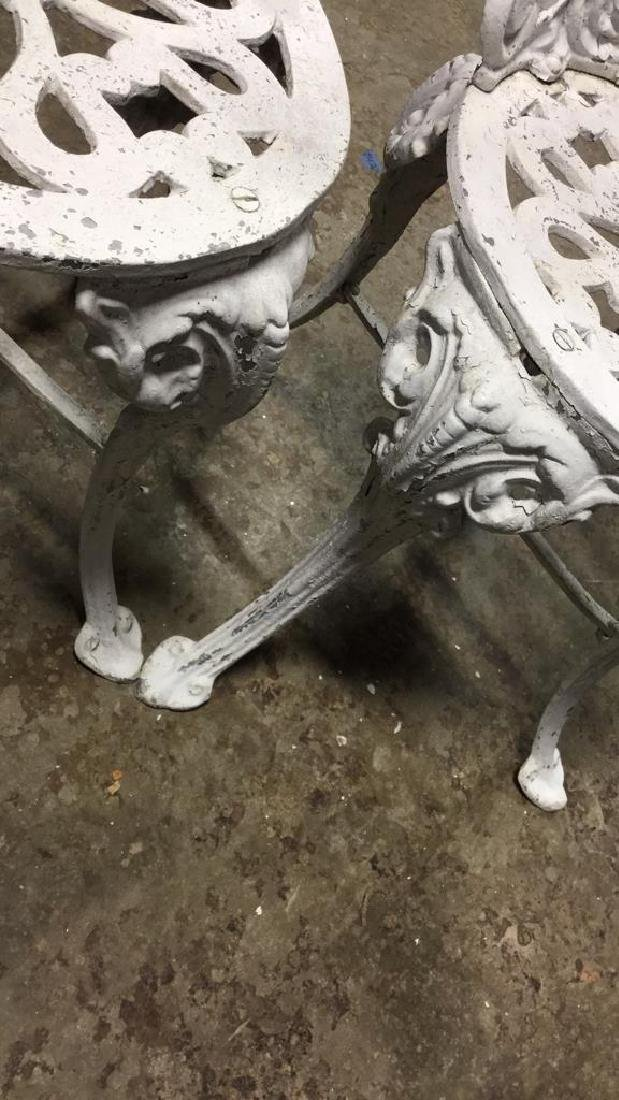 Pair Vintage Iron and Metal Garden Chairs - 6