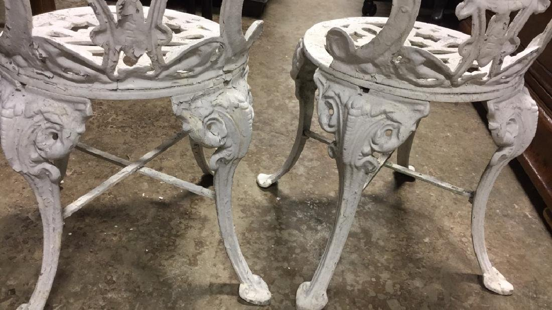 Pair Vintage Iron and Metal Garden Chairs - 8