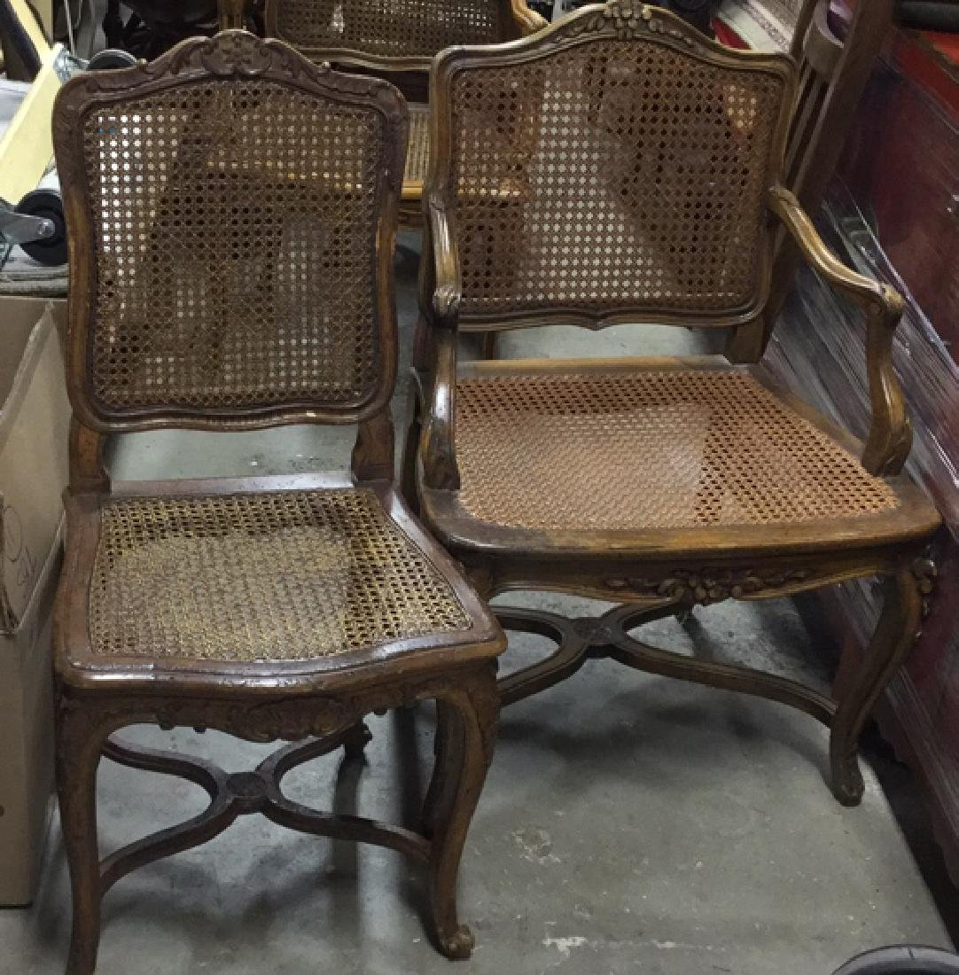 Set 6 Vintage Country French Style Chairs - 2