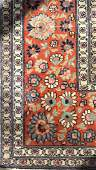 Oriental Design Rust Toned Wool Carpet