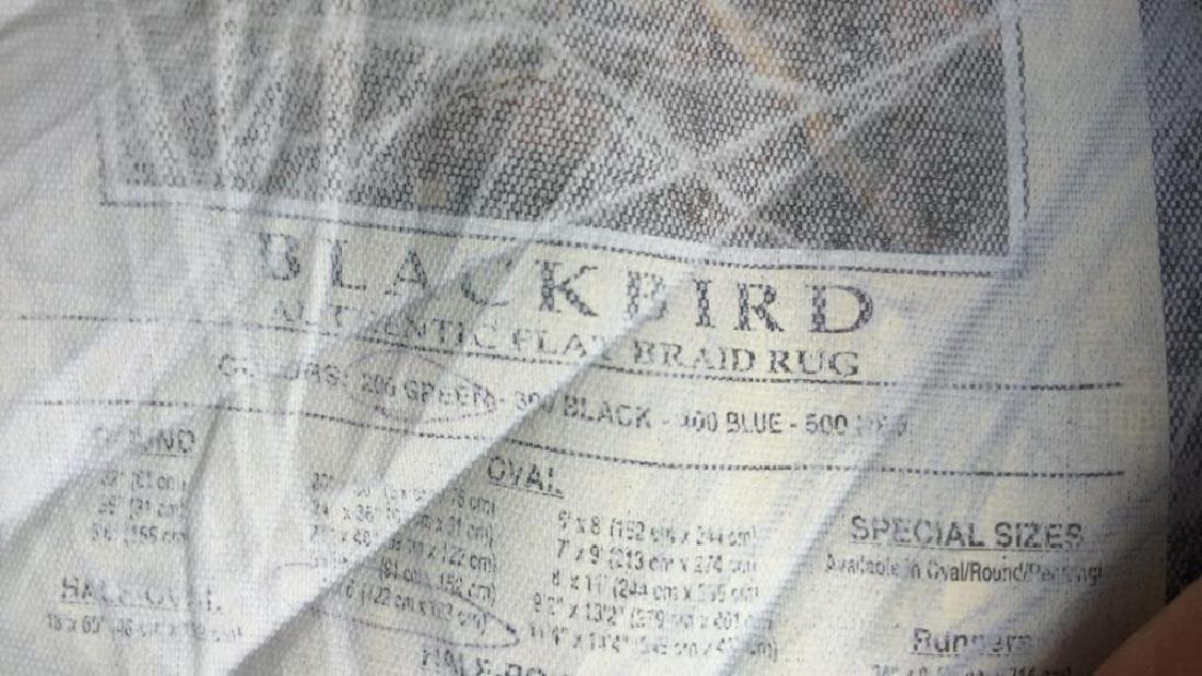 Oval BLACKBIRD Authentic Flat Braid Rug - 5