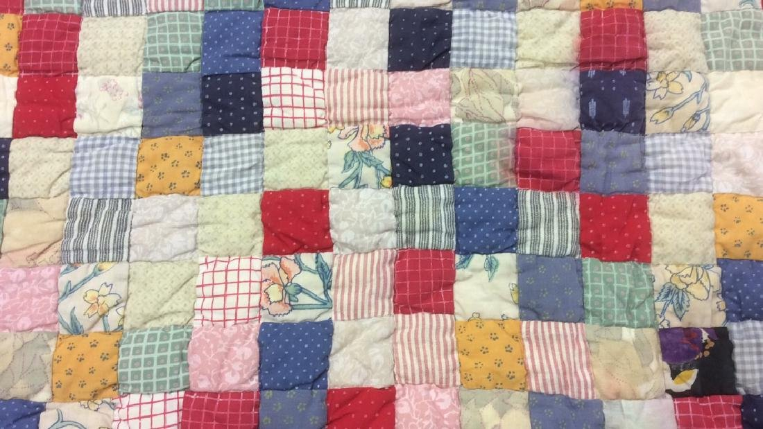 Cotton Vintage Patchwork Quilt - 5