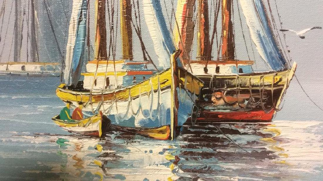 B Wilder Maritime Oil on Canvas