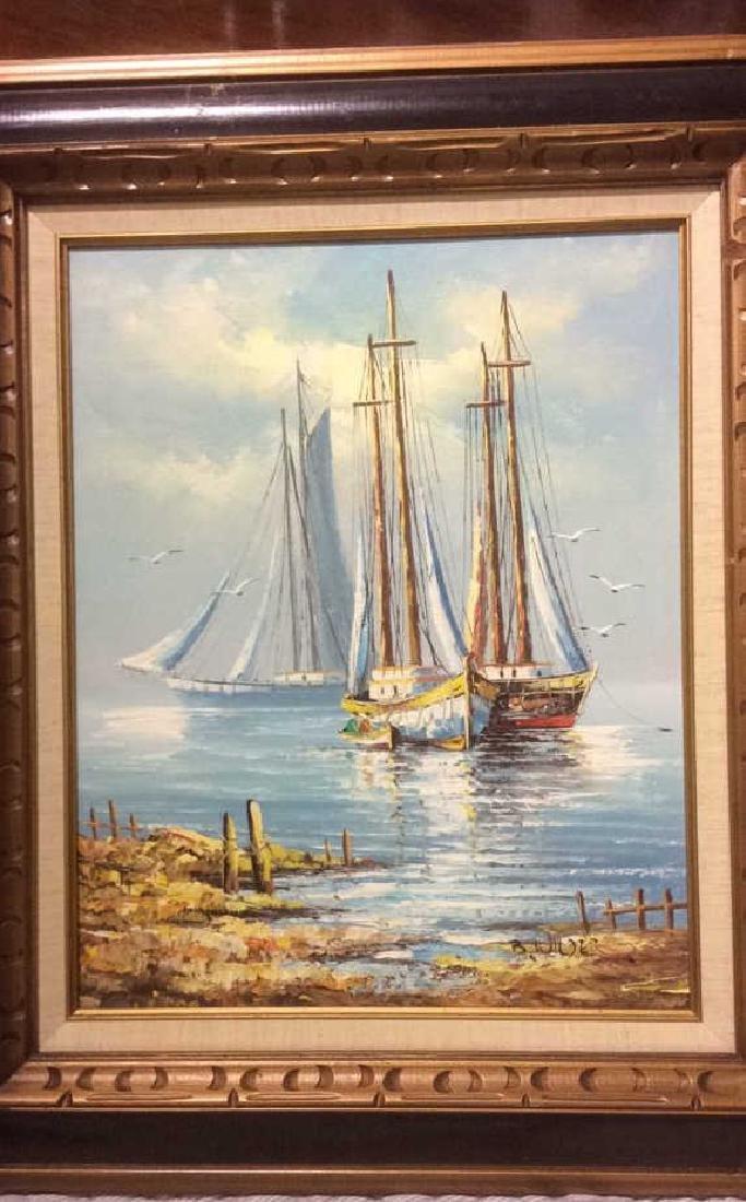 B Wilder Maritime Oil on Canvas - 3