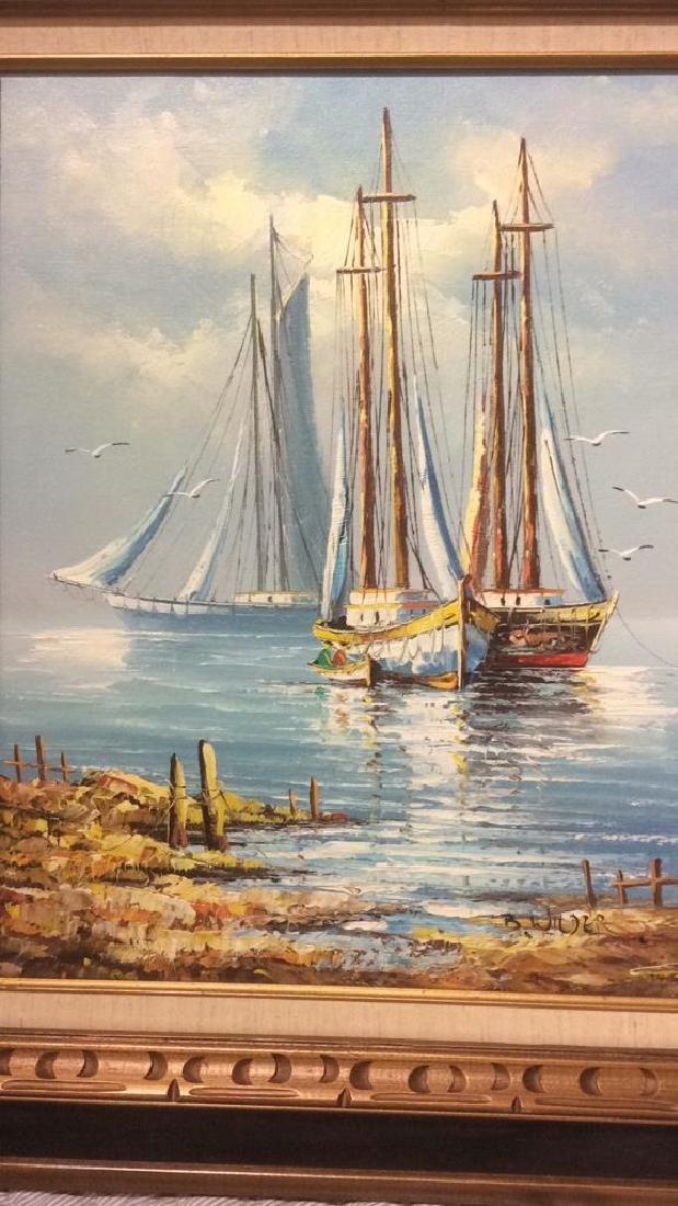 B Wilder Maritime Oil on Canvas - 4