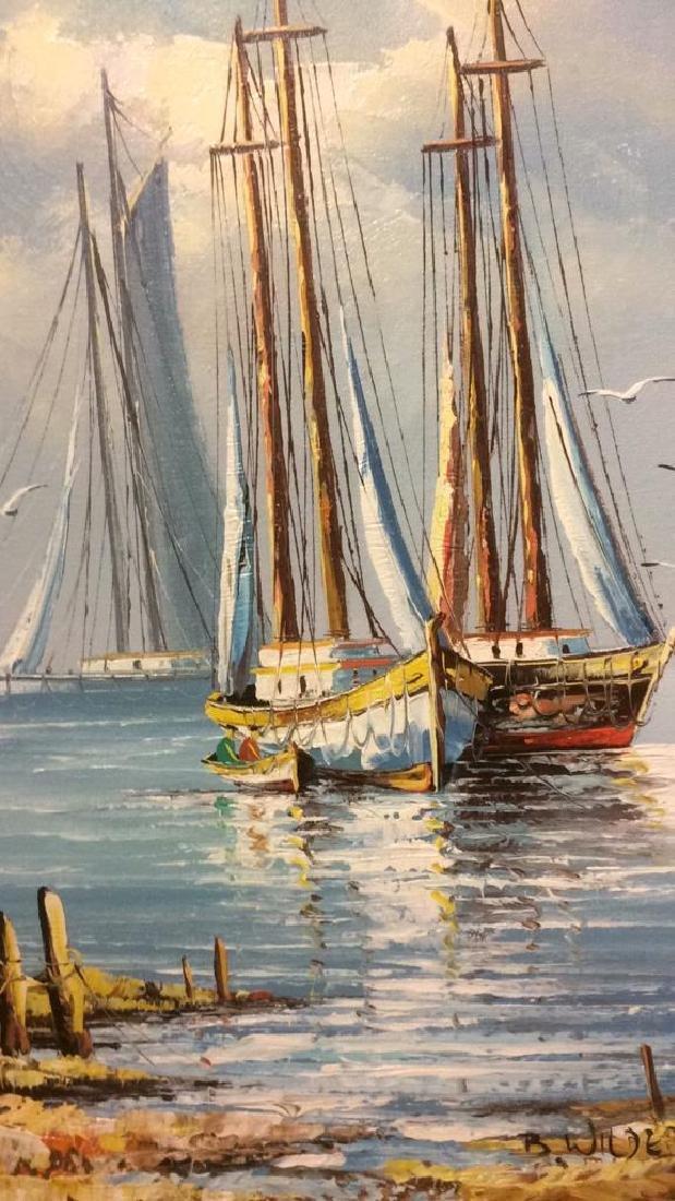 B Wilder Maritime Oil on Canvas - 5
