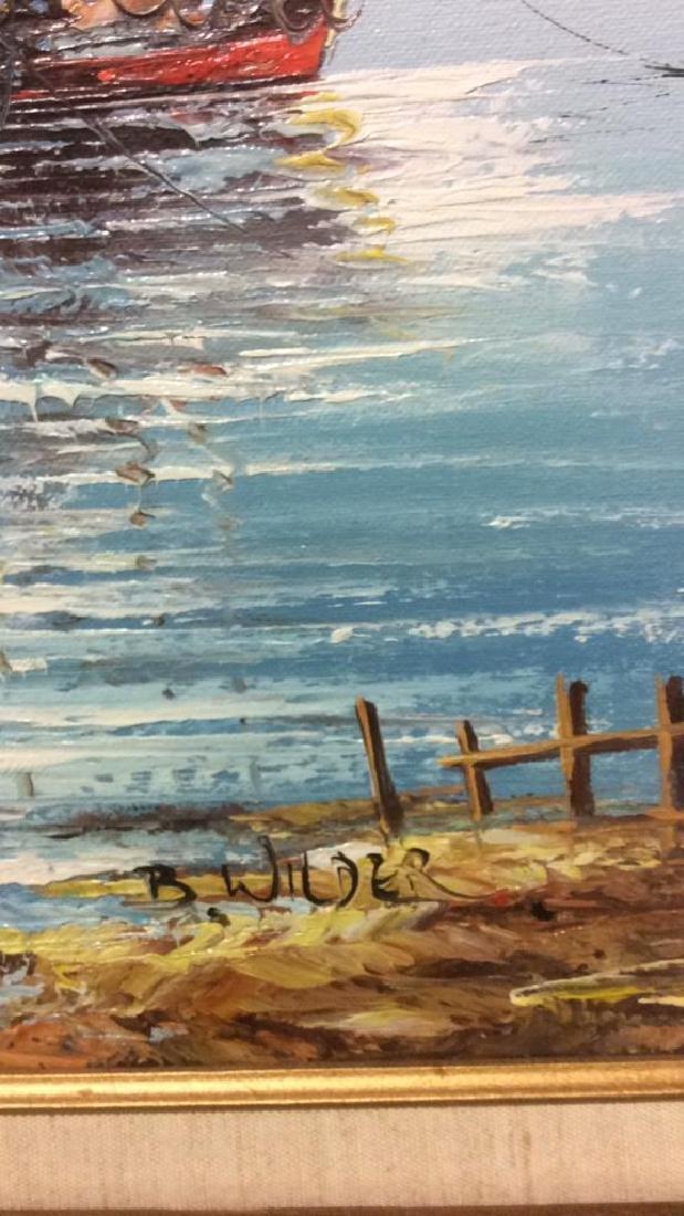 B Wilder Maritime Oil on Canvas - 7