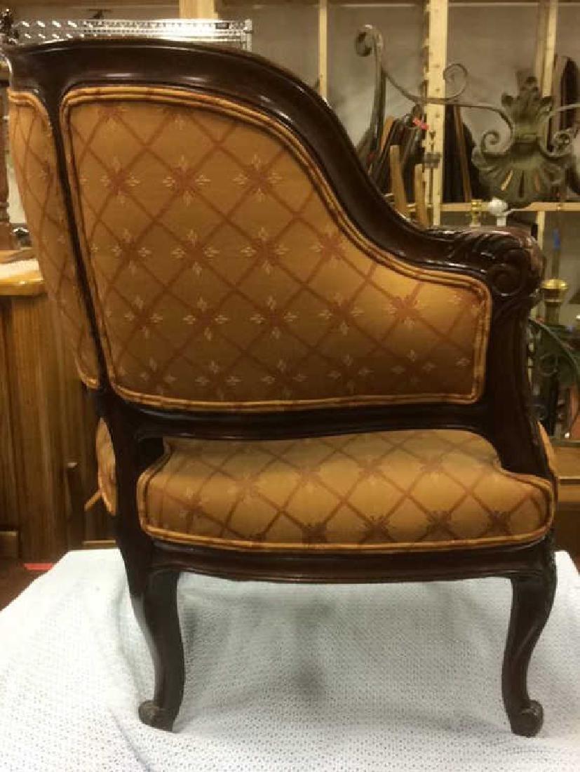 Vintage Carved Upholstered C Shaped Bergere - 5
