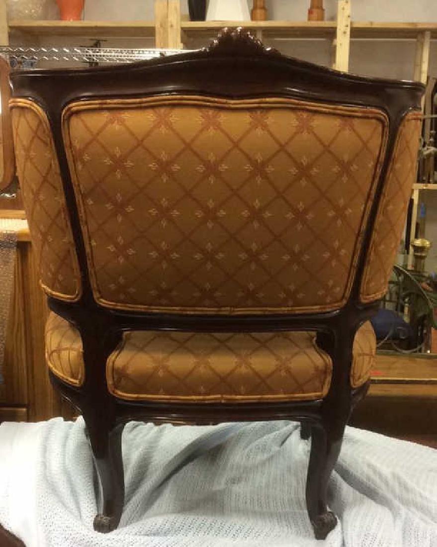 Vintage Carved Upholstered C Shaped Bergere - 6