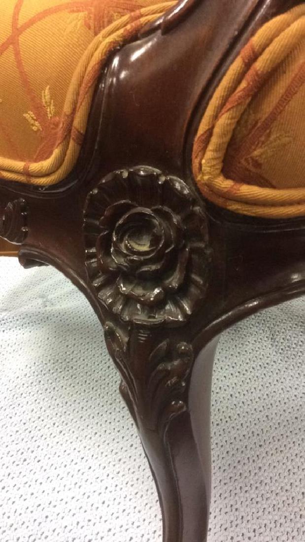 Vintage Carved Upholstered C Shaped Bergere - 9