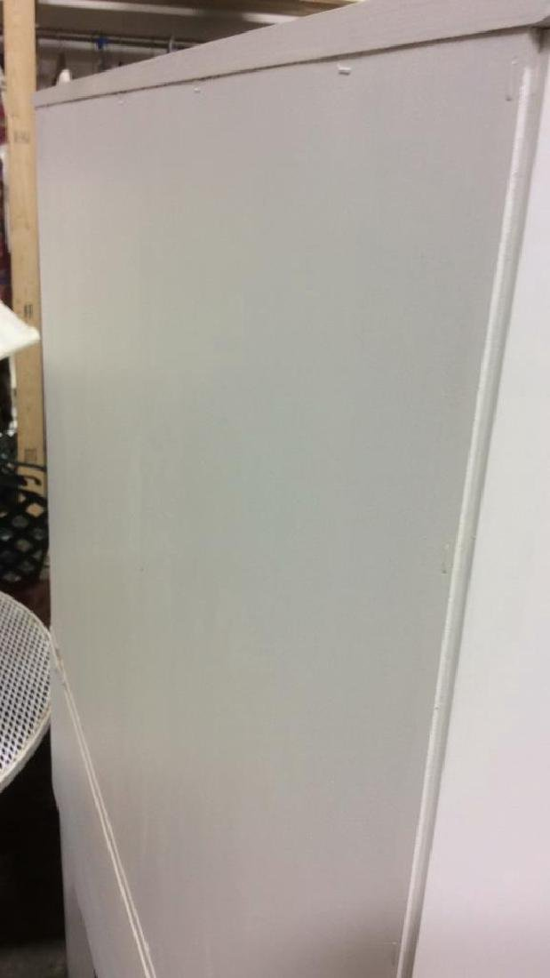 White Painted Desk W upper Cabinet - 8