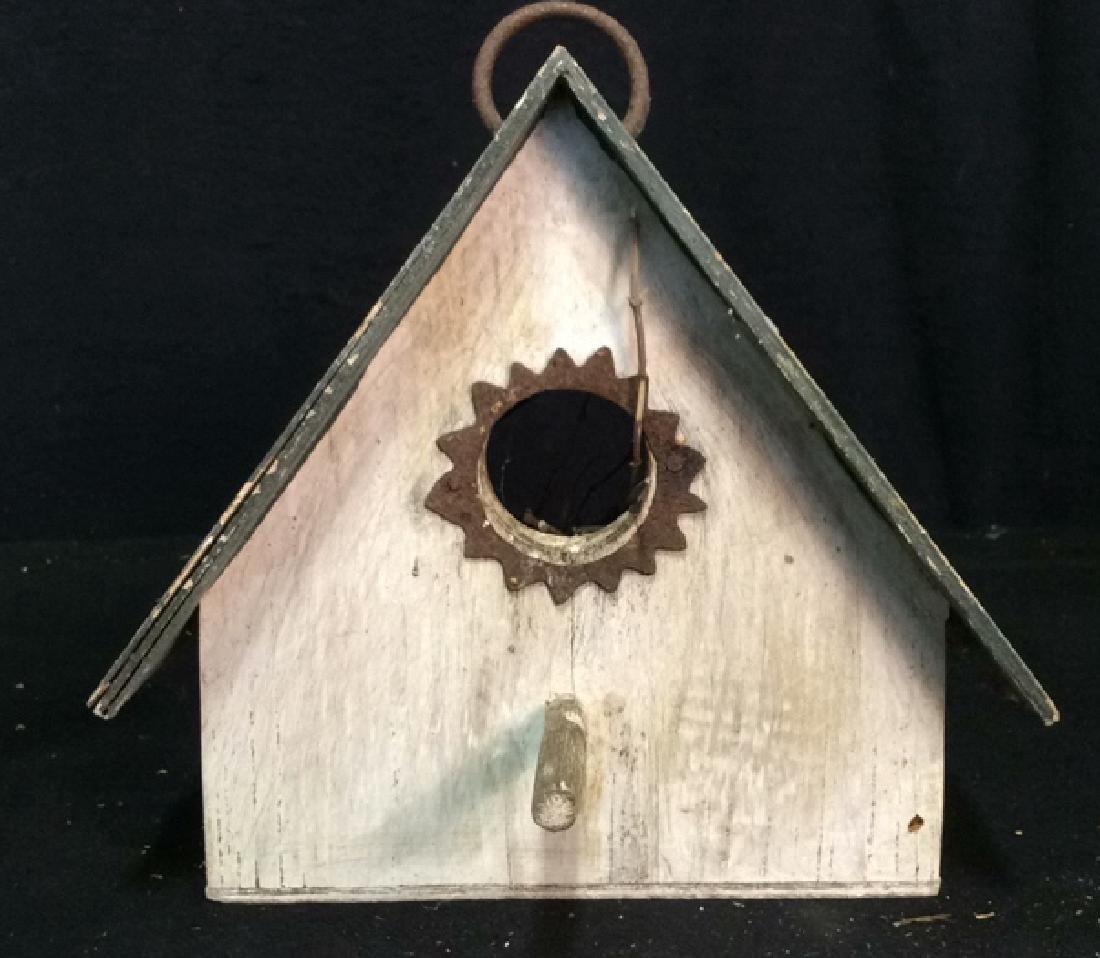 Weathered Wooden Birdhouse