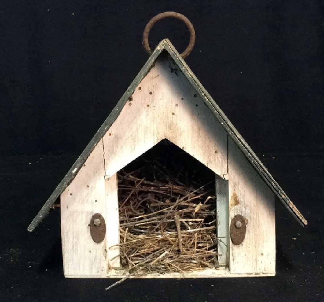 Weathered Wooden Birdhouse - 5