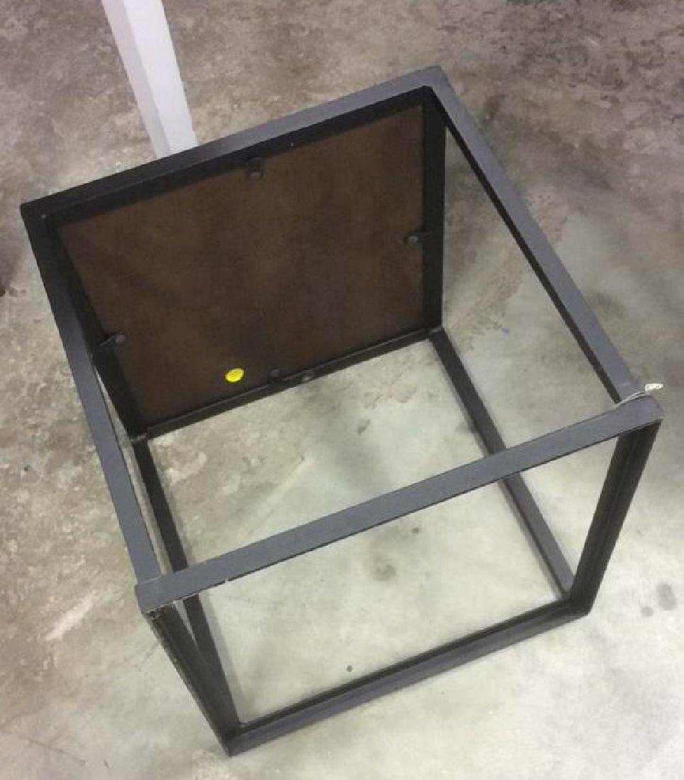 Mid Century Modern Iron Walnut Side Table - 6