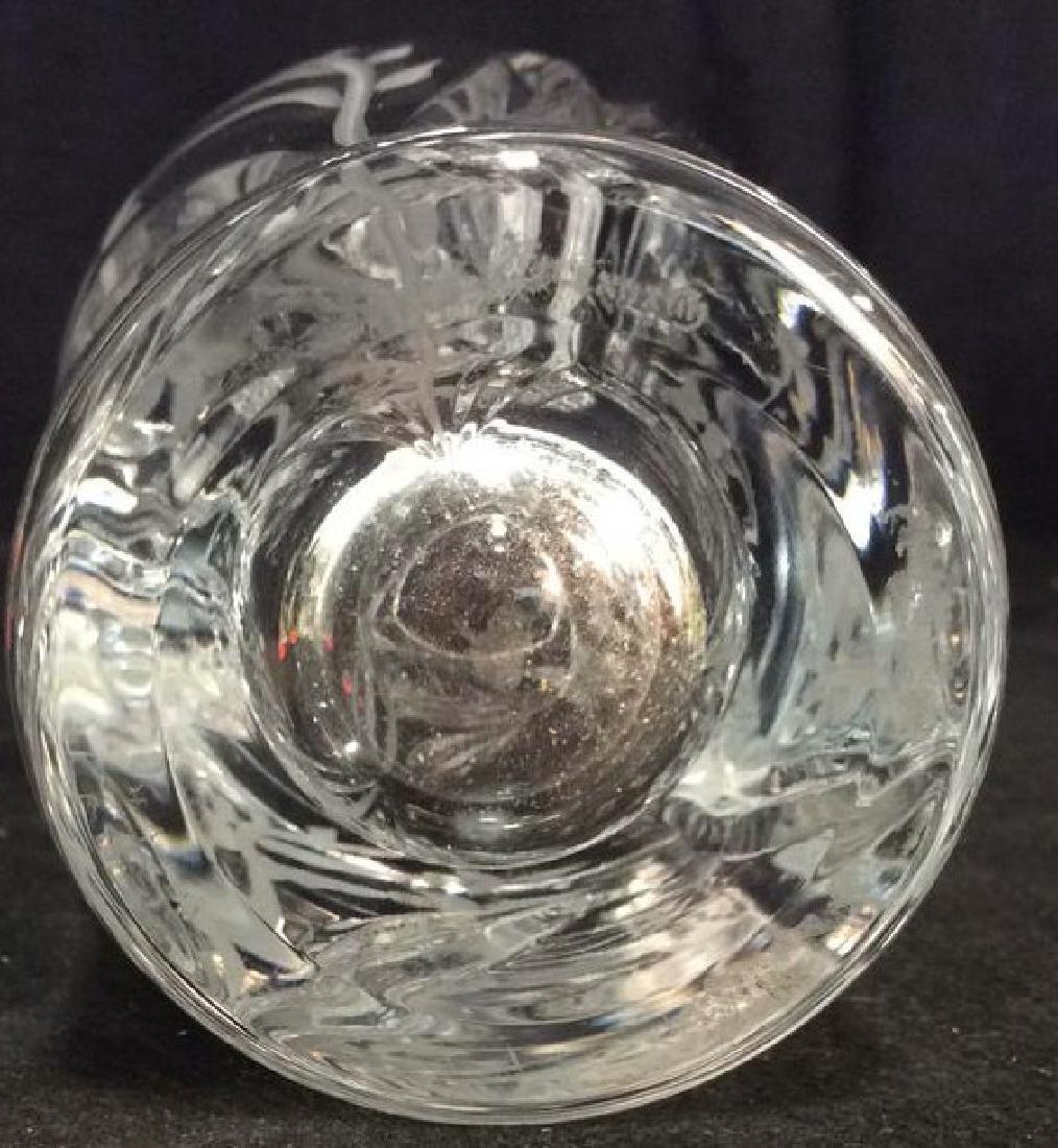 LENOX Crystal Vase W Floral Etched Detailing - 6
