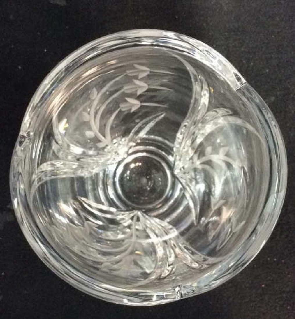 LENOX Crystal Vase W Floral Etched Detailing - 7