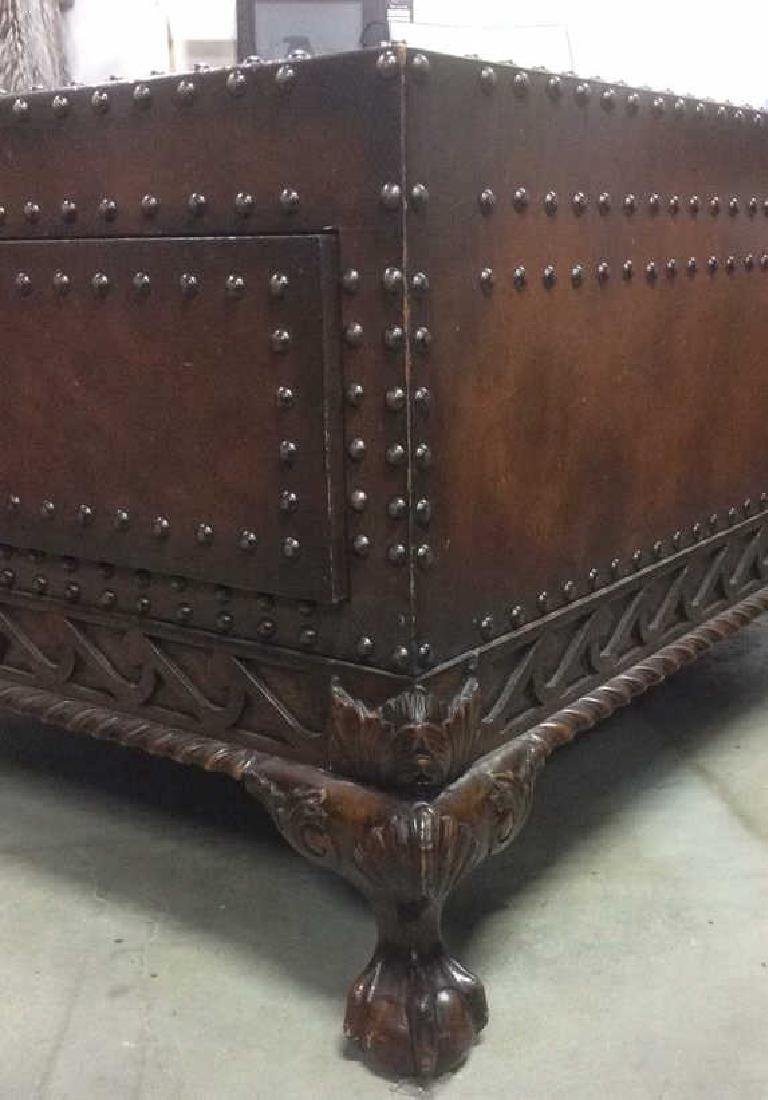 Ralph Lauren Leather and Carved Coffee Table - 10