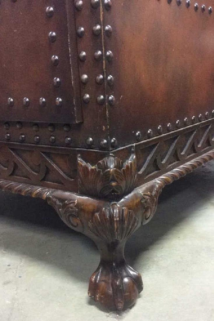 Ralph Lauren Leather and Carved Coffee Table - 11