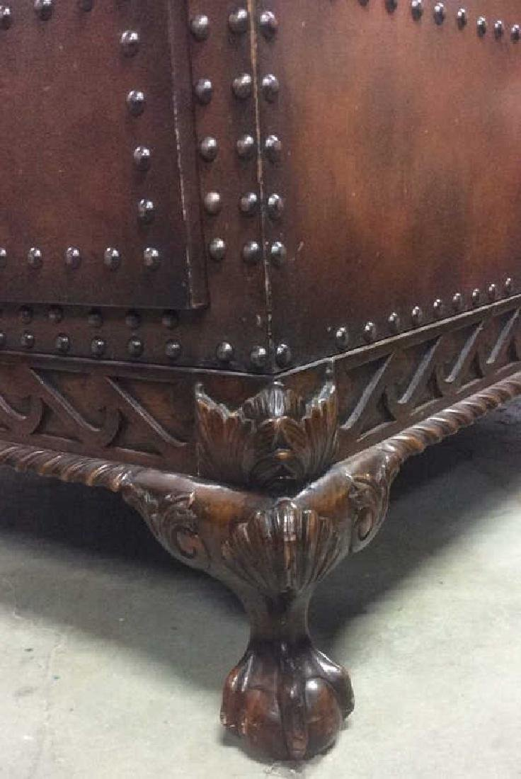 Ralph Lauren Leather and Carved Coffee Table - 12