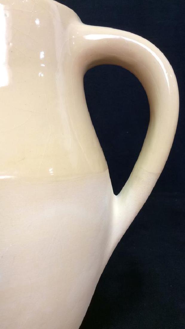 Yellow Ceramic Pitcher W Handle - 10