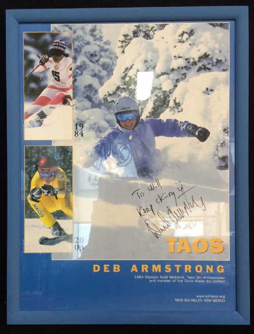 Signed Deb Armstrong Ski Poster