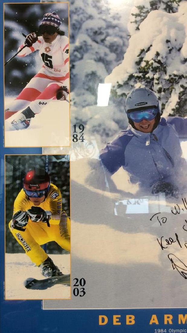 Signed Deb Armstrong Ski Poster - 4