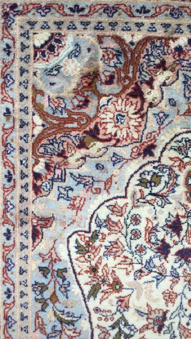 Oriental Style Fringed Detailed Wool Carpet - 7