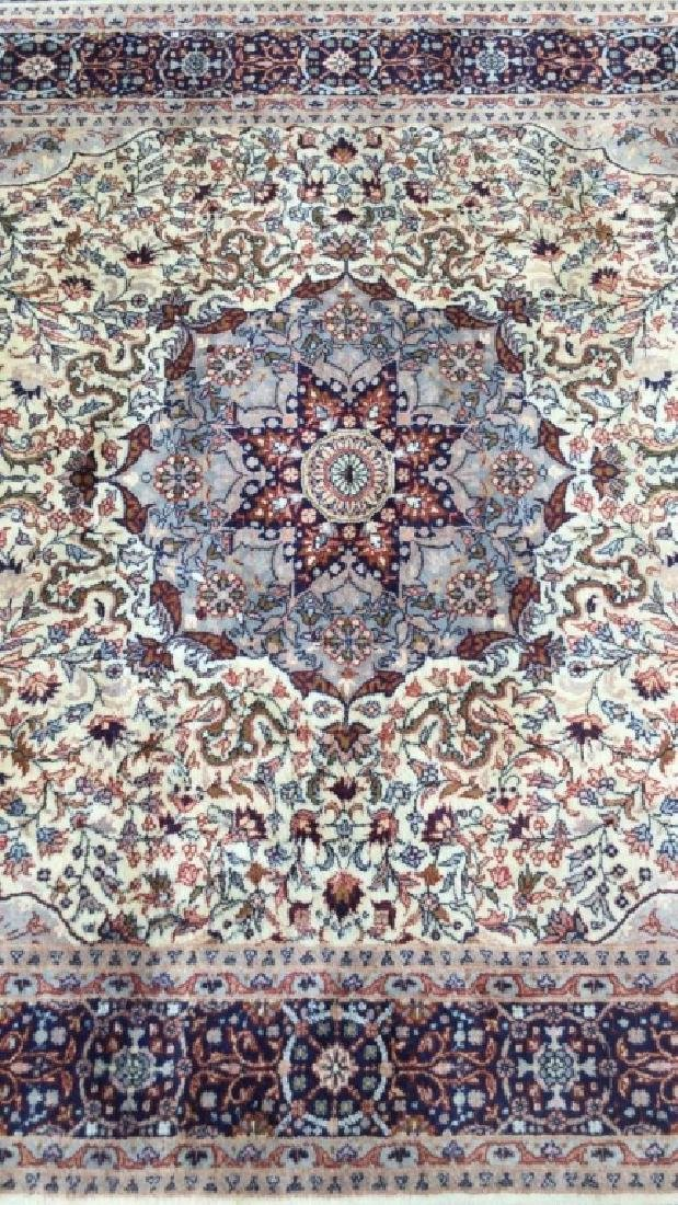 Oriental Style Fringed Detailed Wool Carpet - 8