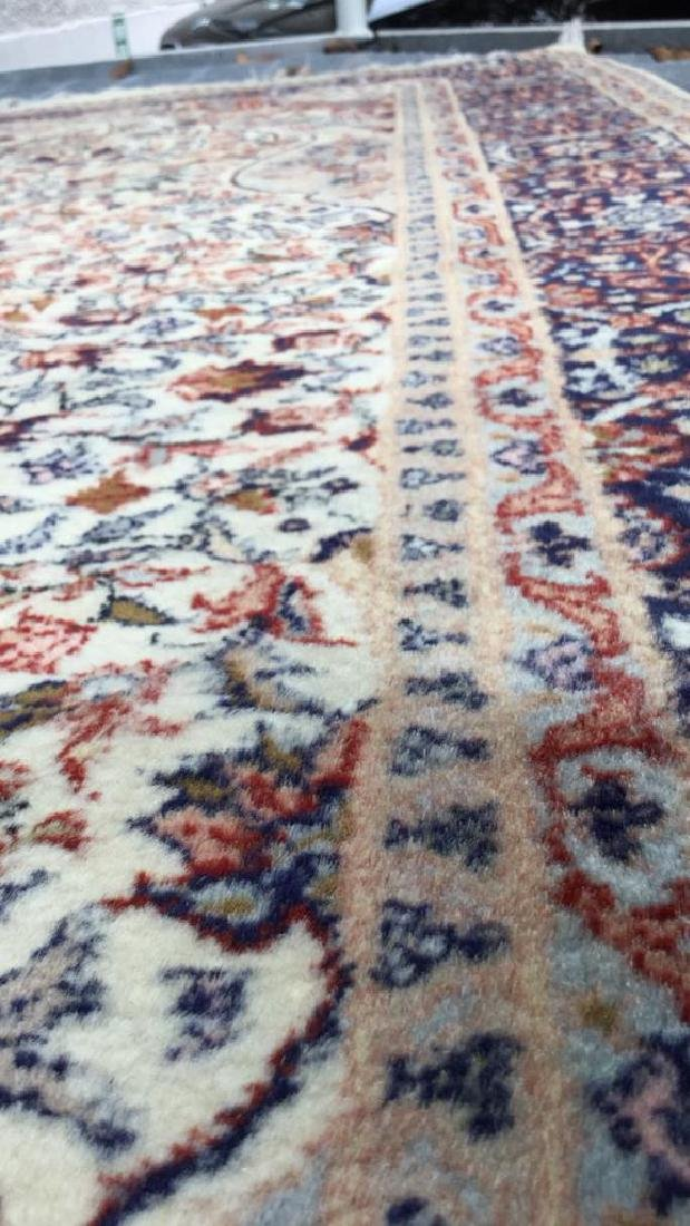 Oriental Style Fringed Detailed Wool Carpet - 9
