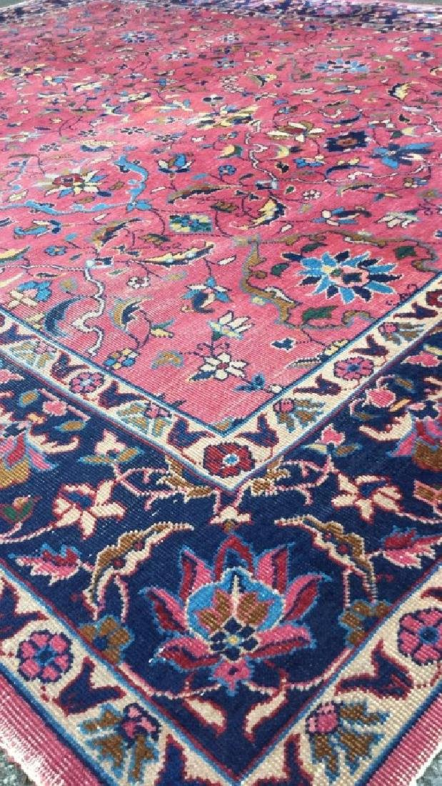 Cranberry Toned Floral Motif Detailed Carpet - 10
