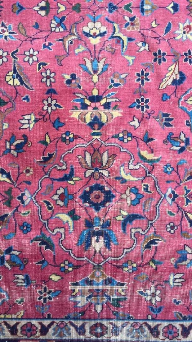 Cranberry Toned Floral Motif Detailed Carpet