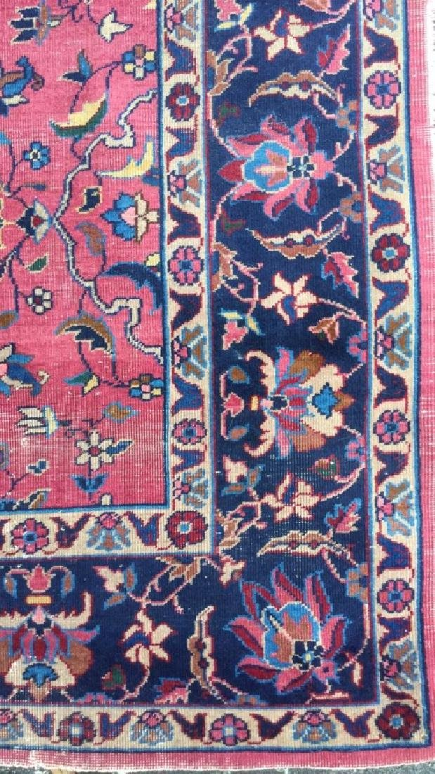Cranberry Toned Floral Motif Detailed Carpet - 2