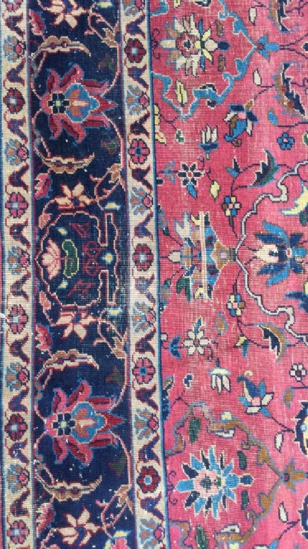 Cranberry Toned Floral Motif Detailed Carpet - 3