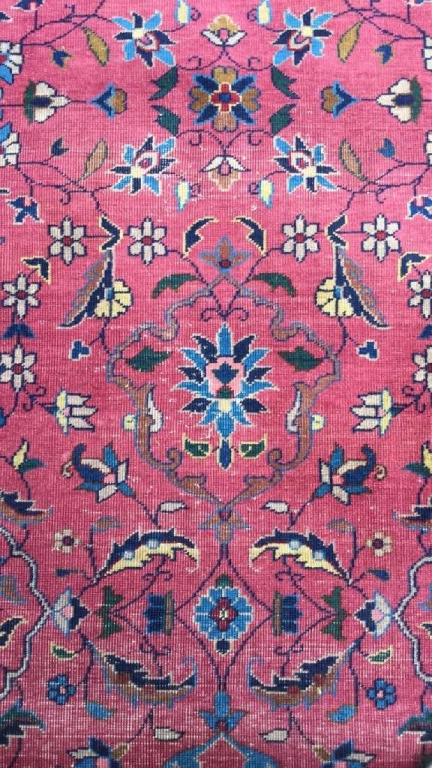 Cranberry Toned Floral Motif Detailed Carpet - 4