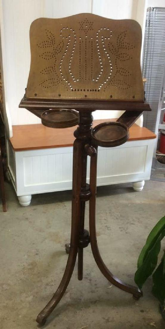European Carved Antique Music Stand