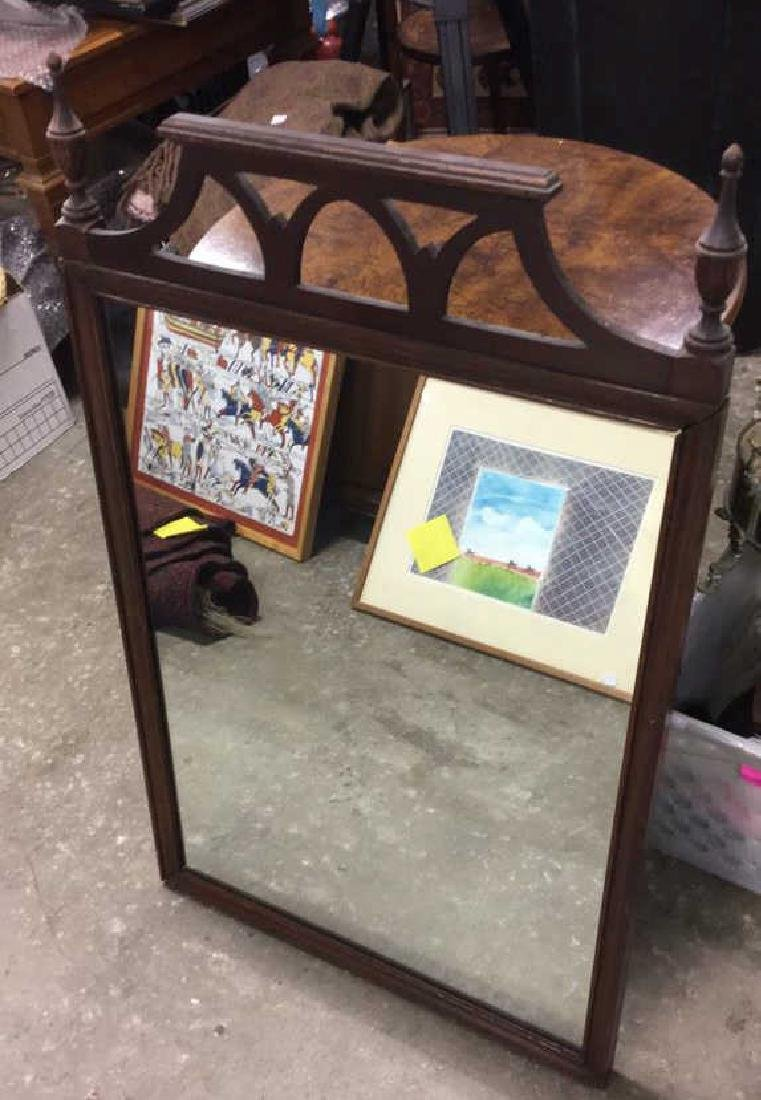 Vintage Wood Wall Mirror