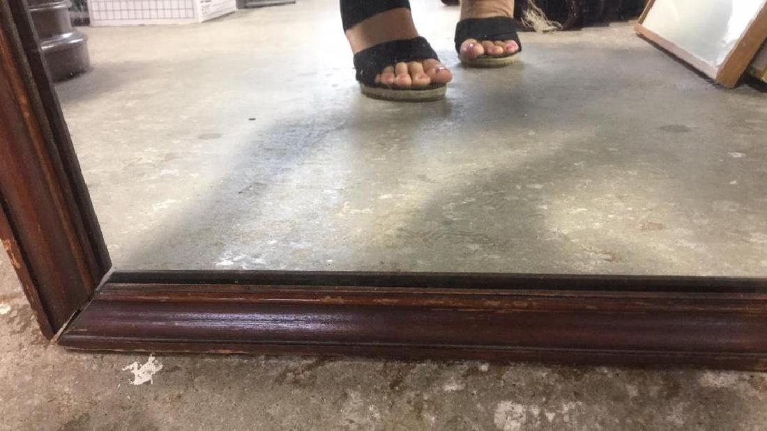 Vintage Wood Wall Mirror - 7