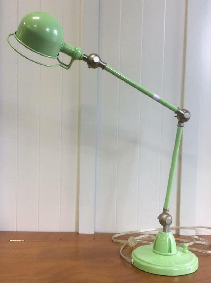 Pottery Barn Green Metal Lamp