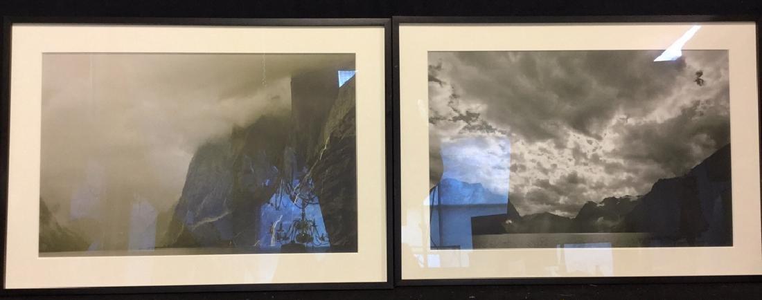 Pair Black& White Framed Landscape Photographs