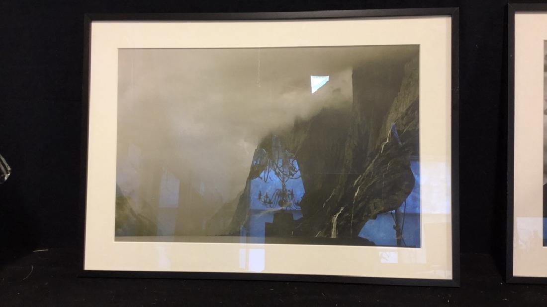 Pair Black& White Framed Landscape Photographs - 2