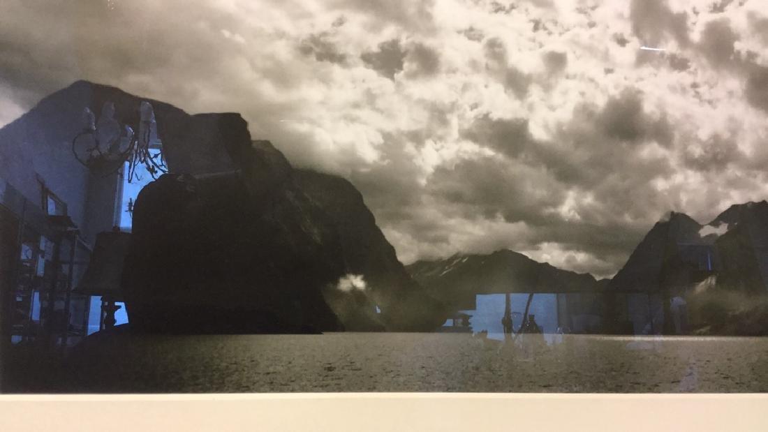 Pair Black& White Framed Landscape Photographs - 6