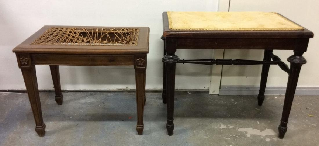 Lot 2 Wooden Antique Benches