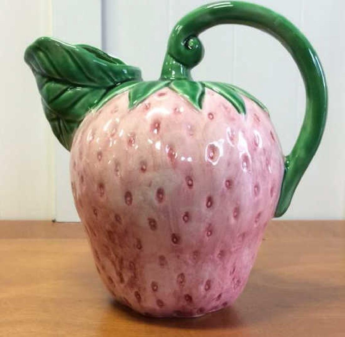 Strawberry Ceramic Pitcher and Jam Jar - 4