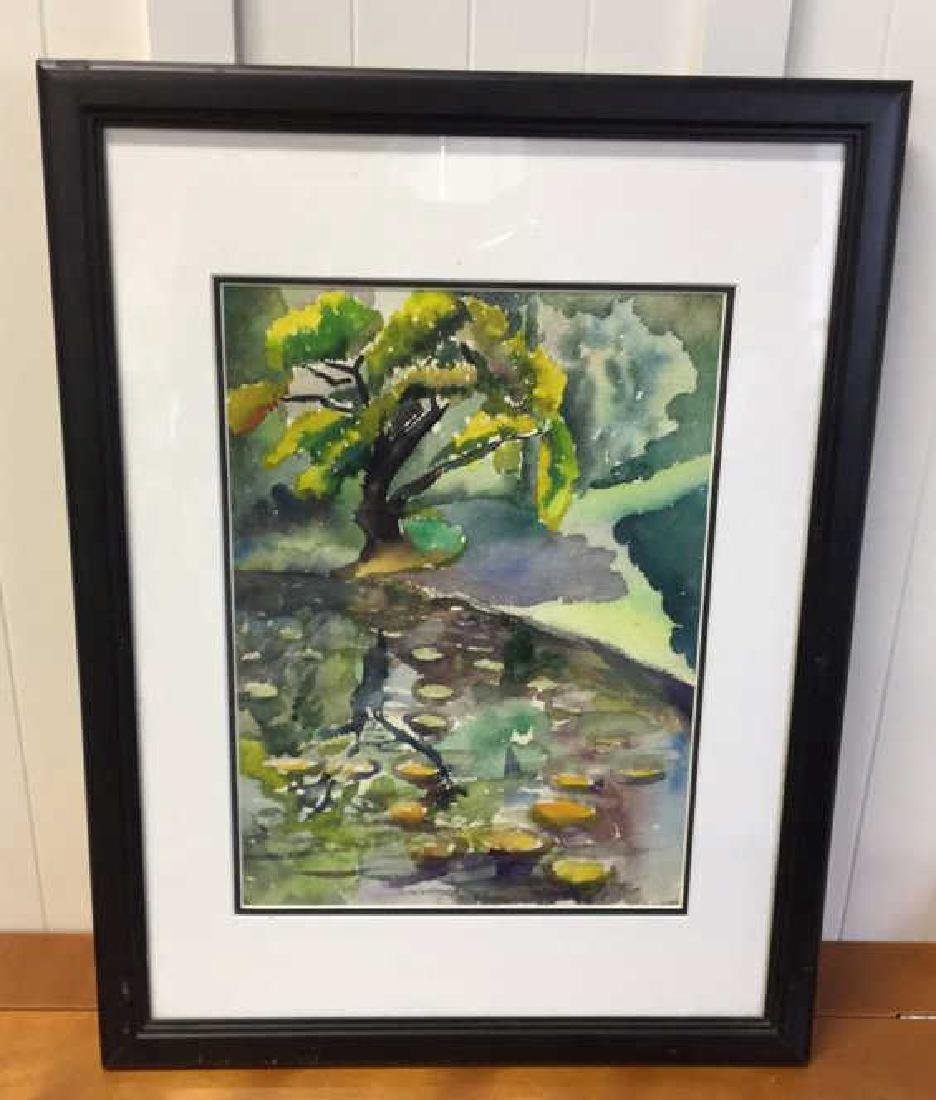 Framed  Watercolor Signed By Corasick - 2