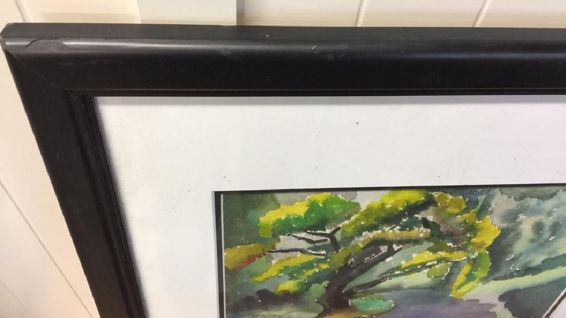 Framed  Watercolor Signed By Corasick - 6