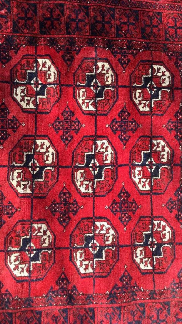 Ruby Toned Oriental Fringed Carpet