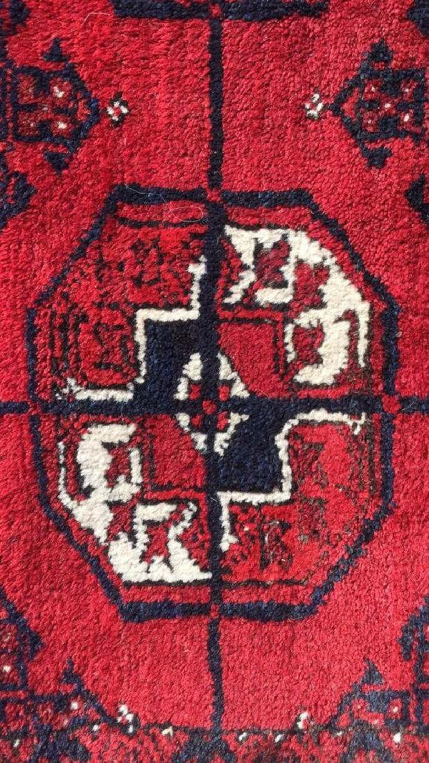 Ruby Toned Oriental Fringed Carpet - 2