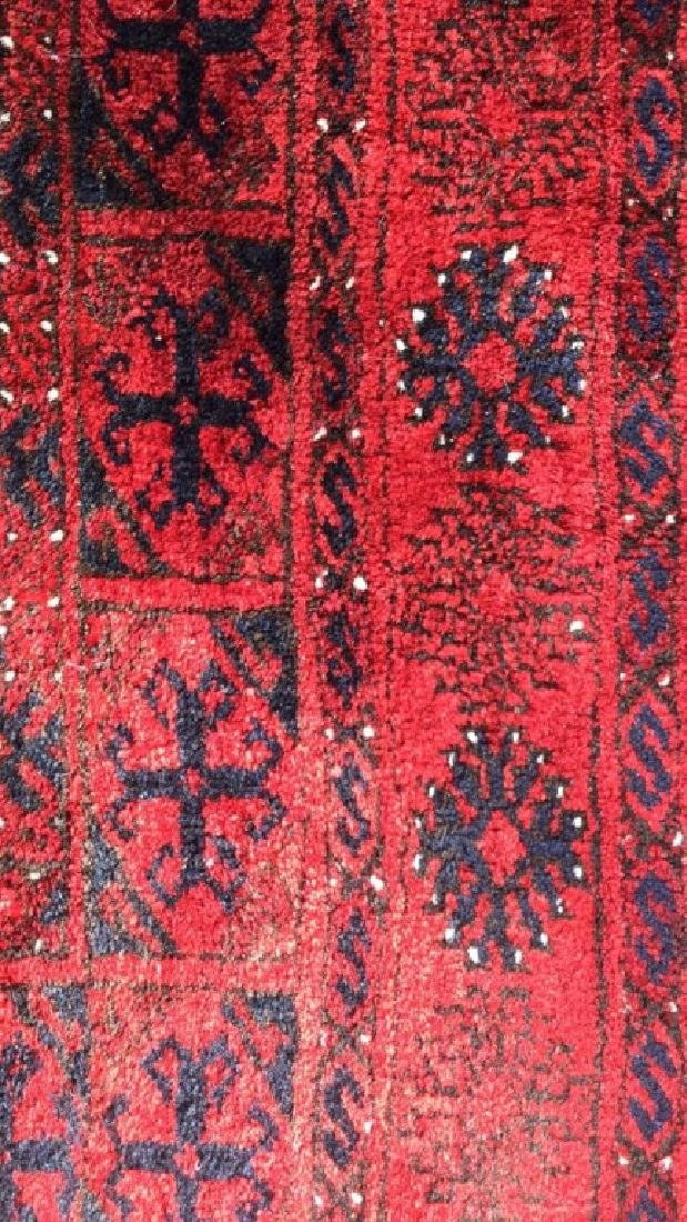 Ruby Toned Oriental Fringed Carpet - 3