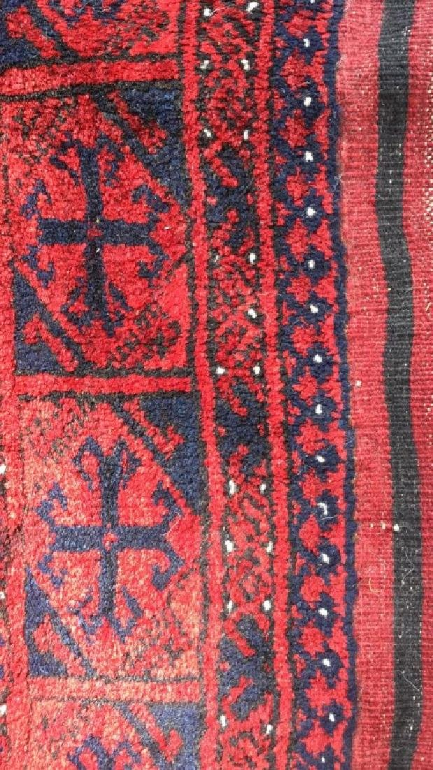 Ruby Toned Oriental Fringed Carpet - 4